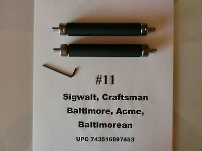 letterpress  2 Rollers and trucks for 2 x 4.25  chase Sigwalt #11 or Baltimore