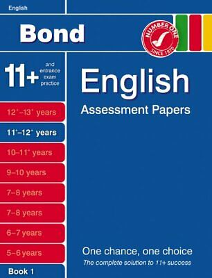 Bond English Assessment papers: 11-12+ Years by Sarah Lindsay Paperback Book The