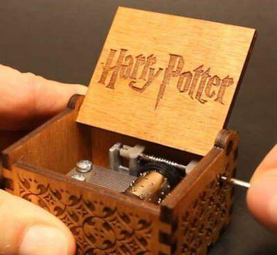 Music Box for Harry Potter Fans Engraved Wooden Hand-Cranked Interest Toys Gifts