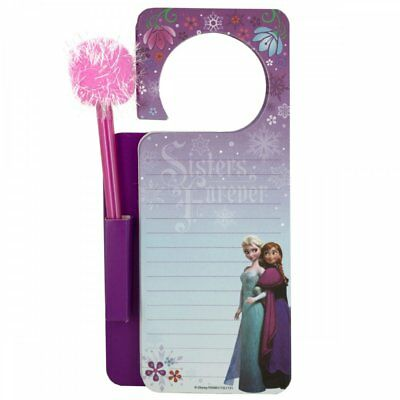 Wholesale Lot of 20 Units Disney Frozen Door Hanger Memo Pad & Pen Set Nice