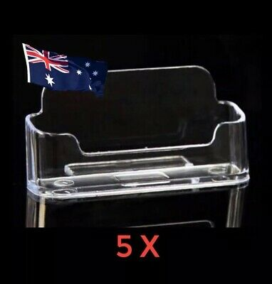 5x Business Card Holder Plastic Display Stand