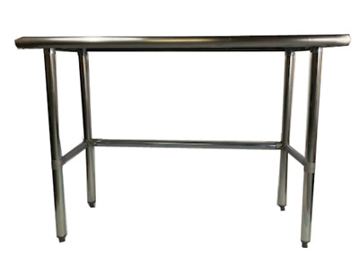 Commercial Stainless Steel Work Table with Crossbar 18 x 72 - NSF