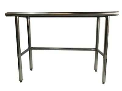 Nsf Heavy Duty Stainless Steel Prep Work Table With Crossbar