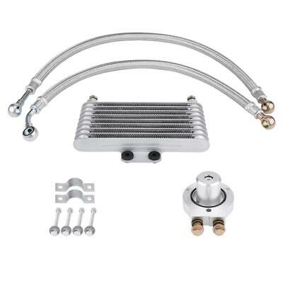 Motorcycle Engine Oil Cooler Cooling Radiator for Suzuki EN GN GSX Vertical