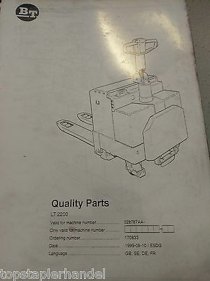 Spare Parts Book BT Electric Stacker Lt2200 328787aa- Bj.1999