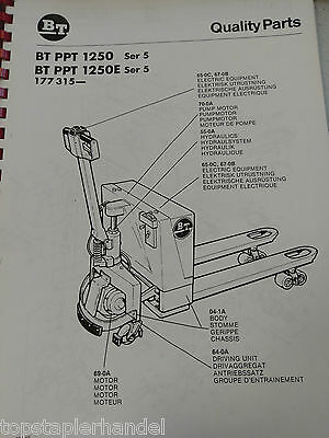 Spare Parts Book BT Electric Stacker Ppt1250/1250e Ser. 5 ab 177315