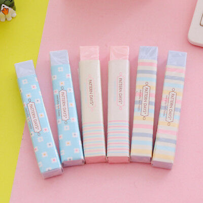 1Pcs Cute Korean Office School Stationery Long Strip Rubber Pencil  Eraser