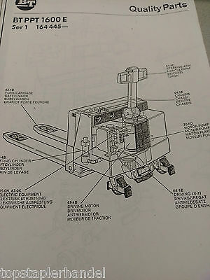 Spare Parts Book BT Electric Stacker Ppt1600e Serie 1 ab Nr. 164445