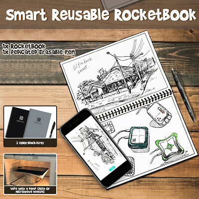 Microwave Erasable Reusable Rocketbook Smart Notebook + Pen  Executive Bundles