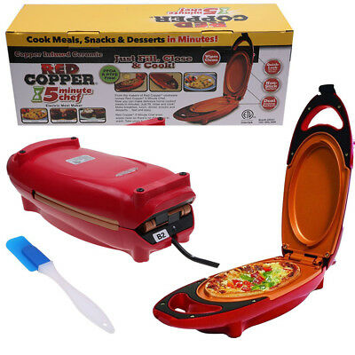 5-Minute Chef Non-stick Red Copper Omlette Maker Cooker Cooking Pan Easy & Fast