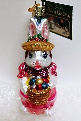 Old World Christmas OWC Bunny Mama Easter Ornament, 2007
