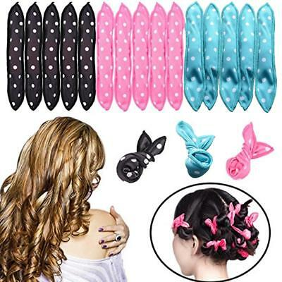 1/2/5pcs Flexible Pillow Soft Foam Hair Curler Sleep Sponge Styling Tool