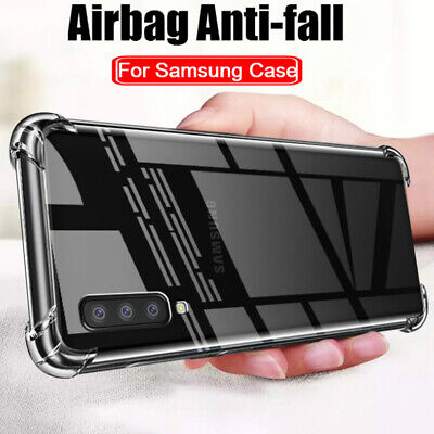 Shockproof Silicone Clear TPU Case Cover For Samsung Galaxy J4 J6 J8 A6 A8 2018