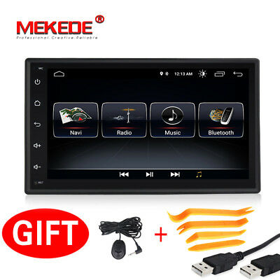 Android 8.1 Car Stereo Ultra Thin 7 inch Touch Screen Vehicle Radio Bluetooth