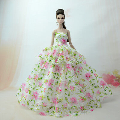 Fashion Princess Party Dress/Evening Clothes/Gown For Barbie Doll S359