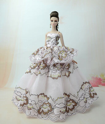 Fashion Princess Party Dress/Evening Clothes/Gown For Barbie Doll S361