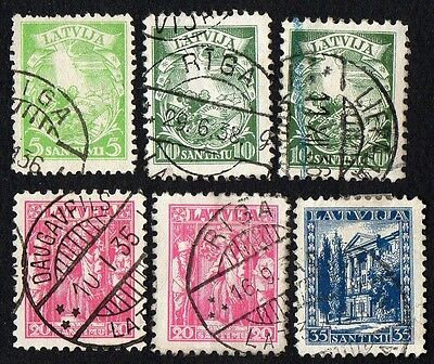Latvia.  1934 New Daily Stamps. Cancelled