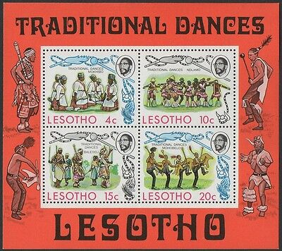 Lesotho stamps.  1975 Traditional Dances. Mini-sheet. MNH