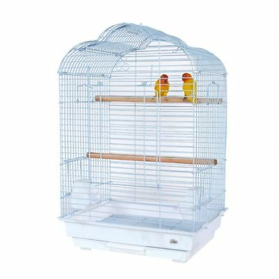 DS White Daisy Bird Cage for Budgie, Lovebird, Cockatiels, Parrot and Other
