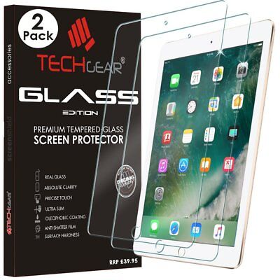 [2 Pack ] New Apple iPad 9.7 2018/2017 Genuine Tempered Glass Screen Protector