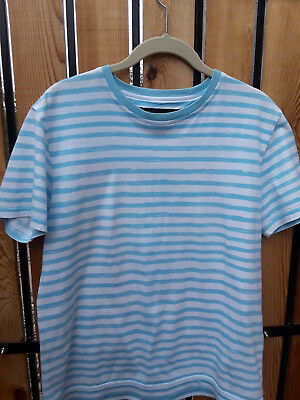 a6729c35ee7fda Marc by Marc Jacobs White   Blue Striped TShirt Top short sleeve Sz  Small Medium