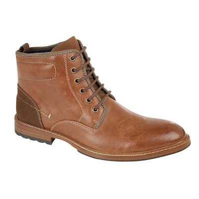 Mens Faux Leather Boots Smart Formal Casual Ankle Army Military Combat Shoes