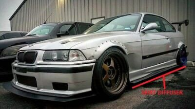 BMW E36 M3 GTR-S Side Skirt Diffuser Extensions DTM GFK aggressive-lovers