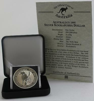 Official coins of Australia Kookaburra One dollar Silver proof 1995 case and coa