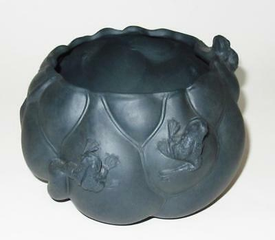 """Asian Pottery, FROGS, Green Planter Pot, 5 1/2"""" by 3 1/4"""" H"""
