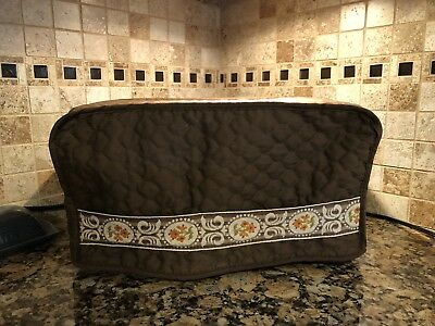 Quilted Brown Toaster Oven Appliance Cover