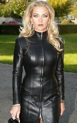 2b70729bec7d3 Women Real Genuine Lambskin Leather Dress Plus Size Custom Made For  Valentines