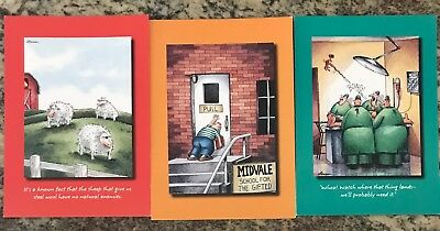 UNUSED The Far Side Greeting Cards Blank and Get Well Soon w/ Envelopes