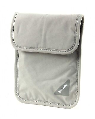 pacsafe Purse Coversafe X75 RFID Blocking Neck Pouch Neutral Grey