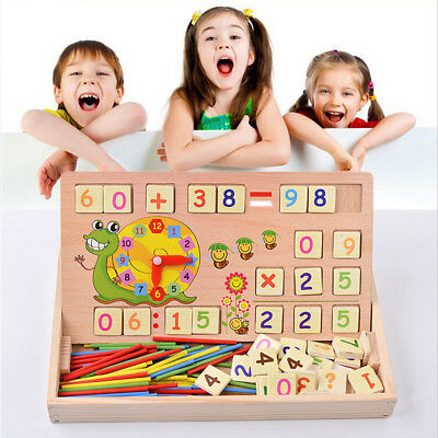 Kids Baby Educational Toys Wooden Building Block Arithmetic Learning Toy Tool