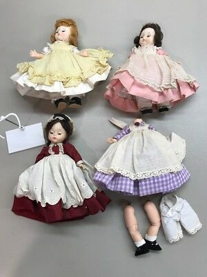 Vintage Madame Alexander Kins Lot of 4 Dolls Amy Beth Marme Meg