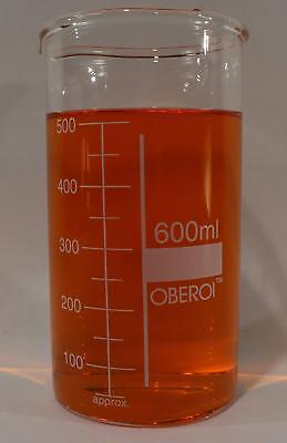 600 ml Glass Beaker, Tall Form, Graduated, with Spout