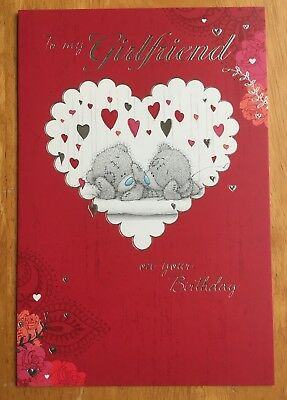 To My Girlfriend Large Birthday Card