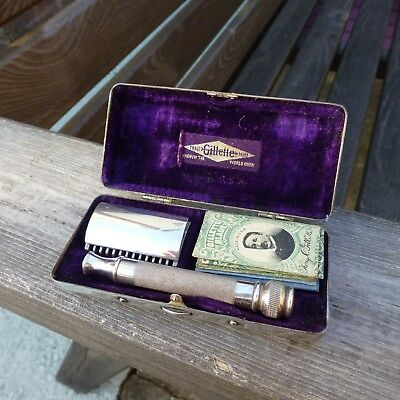 Superb Vintage Silver Plated Gillette Safety Razor In Quality Box - Made In USA