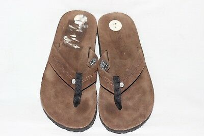 0d4333896c06 New TEVA Old Town Brown Leather Flip Flop Thong Sandals Women s 7