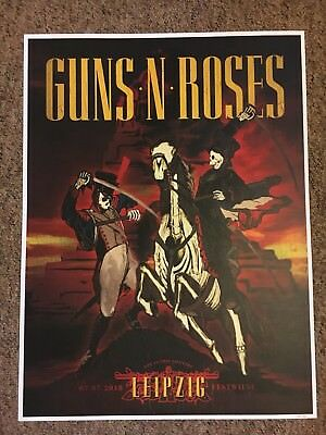 Guns N' Roses Leipzig Limited Edition Lithograph 78/150 Not In This Lifetime