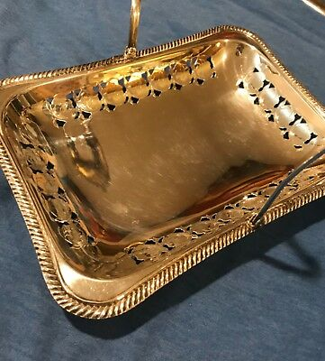Antique English Silver plated candy dish with handle