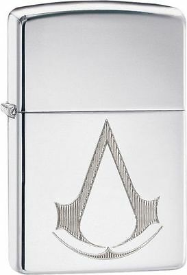 Zippo 29486, Assassin's Creed, High Polish Chrome Finish Lighter, Full Size