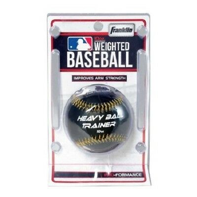 Franklin MLB Heavy Ball Trainer 10 oz. Weighted Baseball Improve Arm Strength