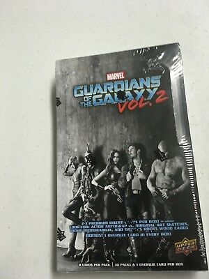 2017 UPPER DECK GUARDIANS OF THE GALAXY Vol. 2 CARDS SEALED 10 PACK HOBBY BOX