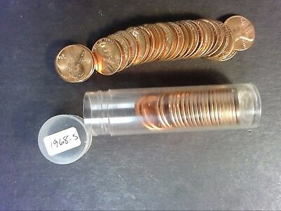 1968 S Bu Lincoln Penny Cent Roll - Uncirculated