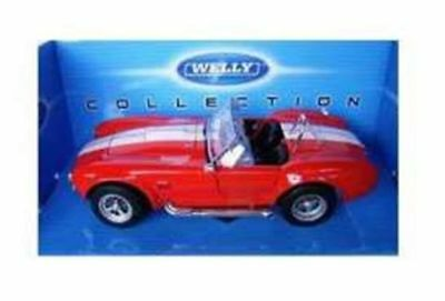 Shelby Cobra 427Sc - Red 1/24 Welly Model Car