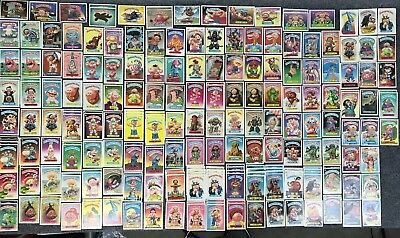 Various Lot of 216 1985 '86 '87 2nd-9th Series Garbage Pail Kids Cards Stickers
