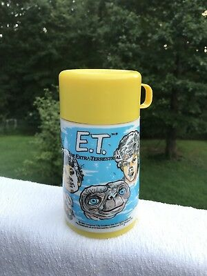 ET Vintage 1982 Aladdin Industries Thermos with Cap & Cup Extra Terrestrial NICE