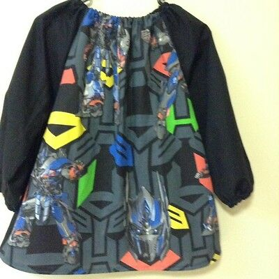 Kids Transformers COTTON  Art Smock Boys 8-10