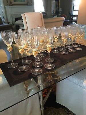 Union Street Glass MANHATTAN GOLD Wine Glasses